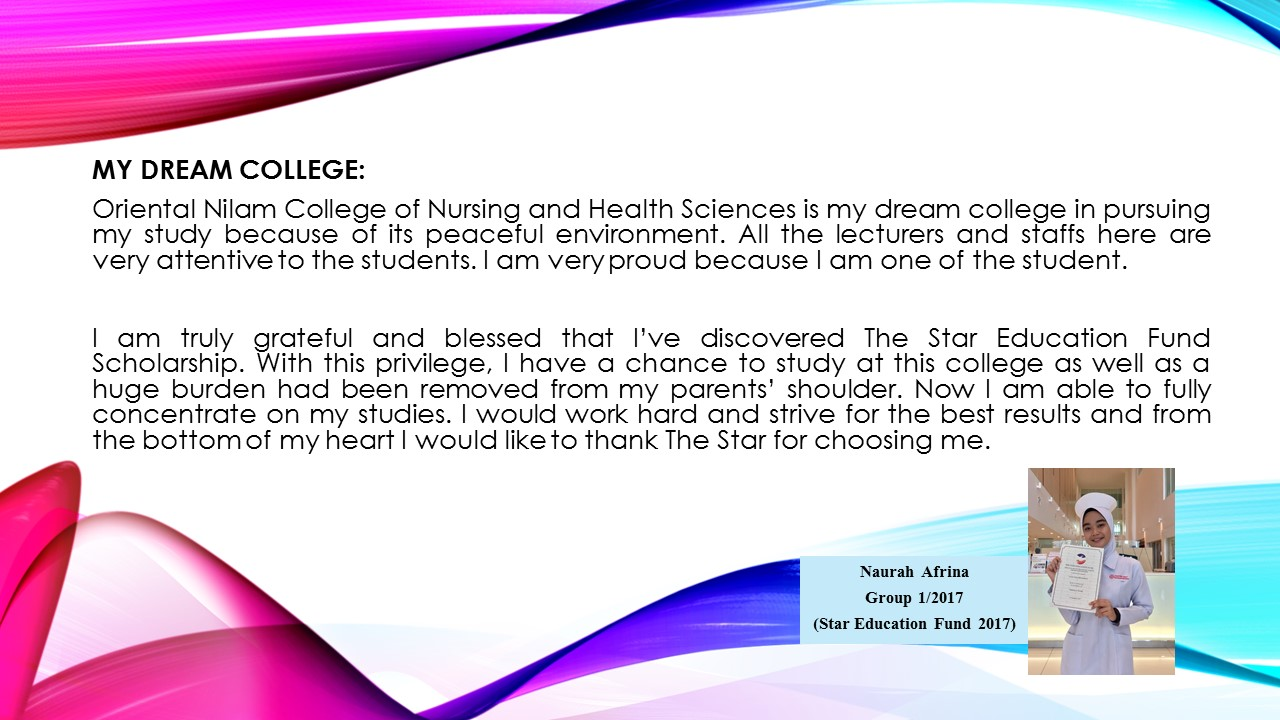 In their Own Words: testimonial from our students #5