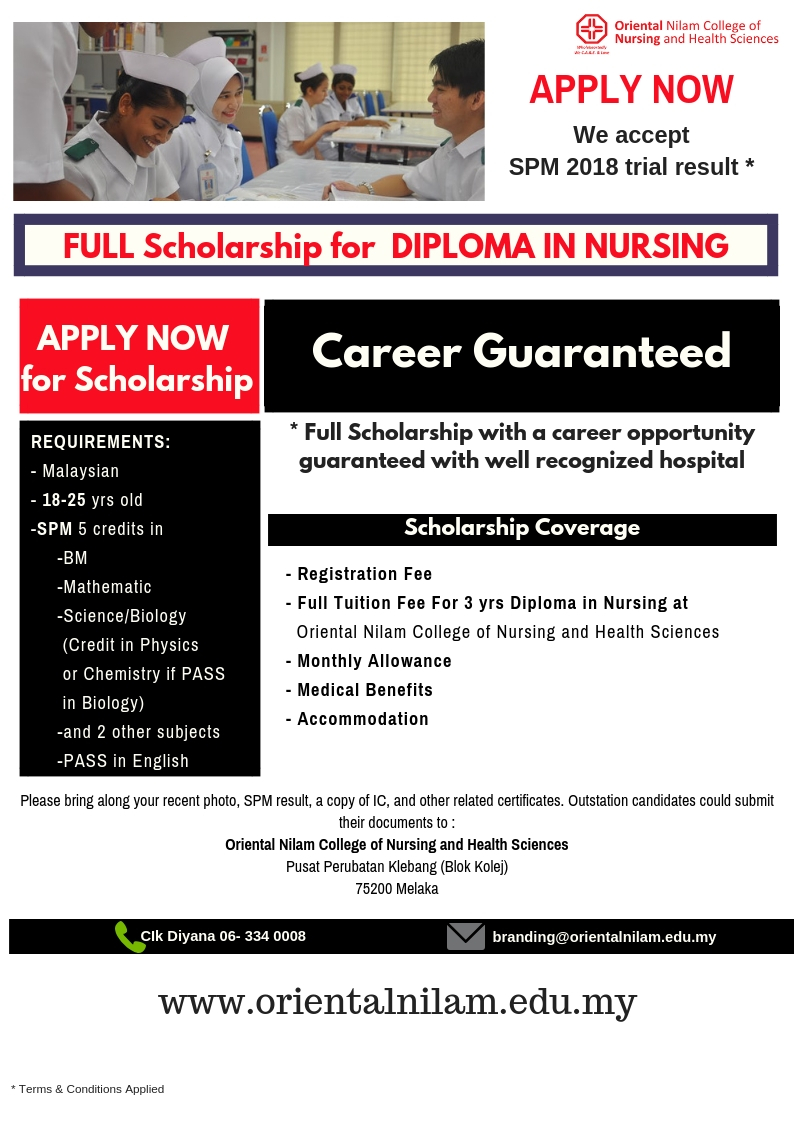 APPLY NOW! WITH YOUR 2018 TRIAL SPM
