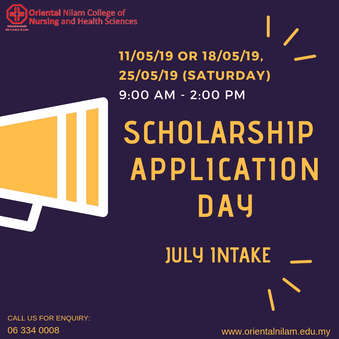 FULL SCHOLARSHIP APPLICATION DAY 2019 FOR JULY INTAKE
